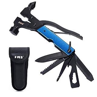 Mr. Ho 13-in-1 Multi-Tool  Auto Notfallhämmer Multifunktions-Taschenwerkzeug in Langlebigem  Edelstahl