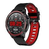 Foroner L8 IP68 wasserdichte Herzfrequenz Blutdruck Schlaf Überwachung SmartWatch Tracker (Rot)
