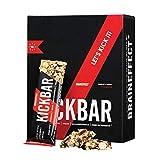 BRAINEFFECT KICKBAR - Crunchy Energieriegel mit Koffein, L-Theanin & Guarana -...
