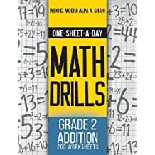 One-Sheet-A-Day Math Drills: Grade 2 Addition - 200 Worksheets (Book 3 of 24)