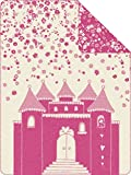 Jacquard Decke s.Oliver Junior, Schloss, pink - 150 x 200 cm