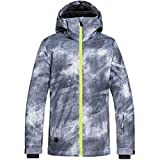 Quiksilver Boys' Mission Printed Youth Jacket Snow