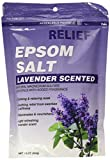 Relief MD Epsom Salt, Lavender Scented, Natural Magnesium Sulfate Crystals with Added Fragrance, 16 oz. by Relief MD