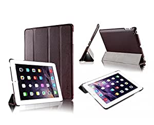 "Invision® iPad 2 3 & 4 Smart Case Cover - Front and Back Protection With Magnetic Auto Wake/Sleep Function - Superior Design Features - Premium Quality PU Leather With Microfiber Inner Lining - Independently Recommended by ""Which?"" Magazine (iPad 2 3 4 Cover Brown)"