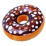 IIWOJ Halloween Weihnachtsgeschenk Simulation Kissen Plüsch Donut Kissen,B,L