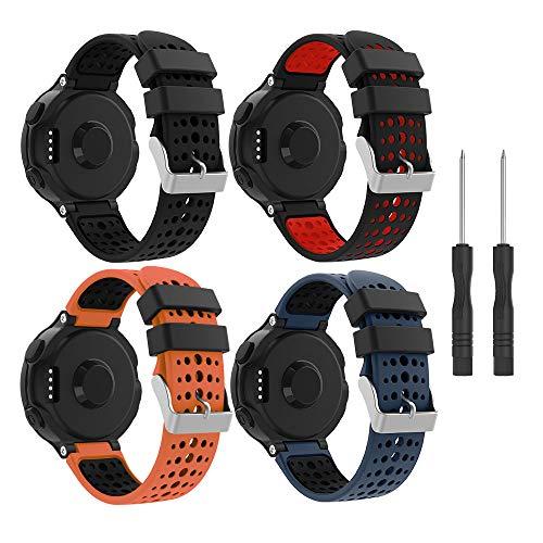YaYuu Garmin Forerunner 235 Correa de Reloj, Banda de Reemplazo Silicona Suave Sports Pulsera para Forerunner 235/220/230/620/630/735XT Smart Watch (B, 4 Paquete)