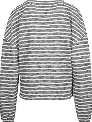 Urban Classics Damen Ladies Oversize Stripe Pullover Mehrfarbig (Black/White 00826)