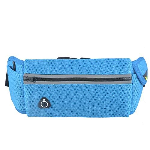 Vertvie Unisex Outdoor Training Handytasche Sporttasche Multifunktionstaschen Fitnesstasche Handy-Paket läuft Hellblau