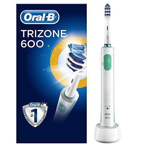 Oral-B TriZone 600 Elektrische Zahnbürste, mit Timer und TriZone Aufsteckbürste, weiß