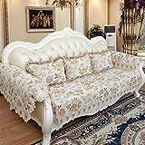 ZCM Sofa Überwürfe, 4 Jahreszeiten Couch Protector Sessel Schonbezug Anti-Rutsch-Elastik-Couchbezug LI-1(EIN Stück) (größe : 90 * 90cm)