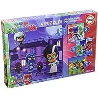 PJ Masks - Set de 4 Puzzles progresivos de 12, 16, 20 y 25 Piezas (Educa Borrás 17273) - Peluches y Puzzles precios baratos