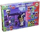 PJ Masks - Set de 4 Puzzles progresivos de 12, 16, 20 y 25 Piezas...