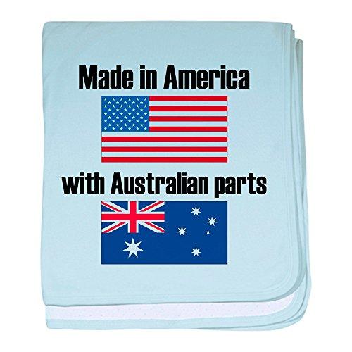 CafePress–Made in America mit australischem Teile Baby Decke–Baby Decke, Super Weich Für Neugeborene Wickeldecke, baumwolle, himmelblau, Standard