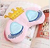Eye Mask -TAOtTAO Cute Eyes Cover Crown Stil Reisen Schlafen Augenbinde Schatten Augenmaske (Rosa)