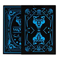 Analysisty Wolf Poker, Waterproof PVC Playing Cards Poker Card With Black Backing Magic Toy Magic Props