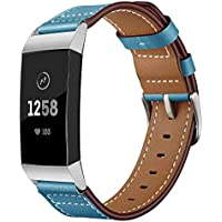 Hunpta@ Uhrenarmband für Fitbit Charge 3 Luxury Leather Bands Replacement Accessories Wristband Straps