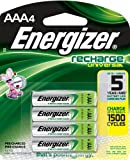 Energizer All Universal NiMH AAA Rechargeable Batteries, 4 Pack (500 mAh, 1,500 Cycles, Pre Charged) Type: AAA UNH12BP Size: 4-Pack Consumer Gadgets Portable Electronic Devices
