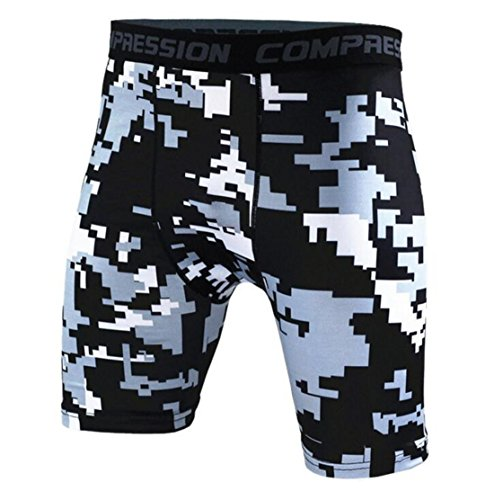 Men's Army Military Fitness Gym Running Compression Shorts . as pic 11