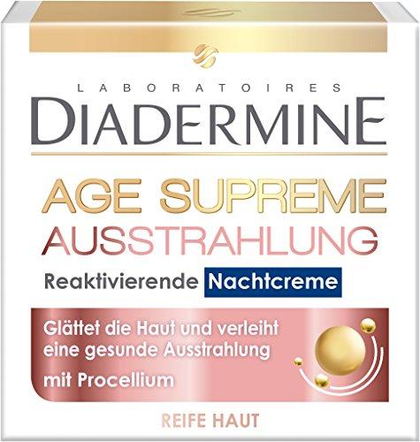 Diadermine Age Supreme Nachtpflege Ausstrahlung Nachtcreme Reaktivierend, 3er Pack (3 x 50 ml)