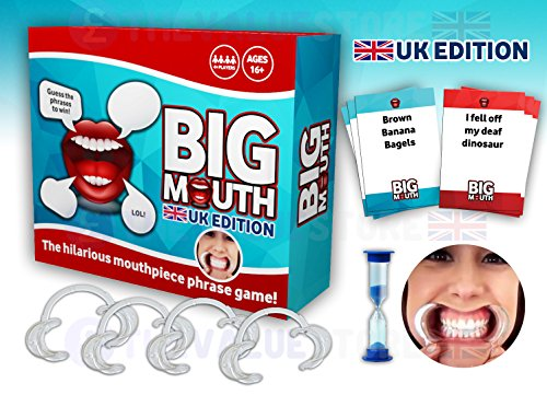 Big Mouth Speak Out UK Edition Version Mouthpiece Board Game Family Edition