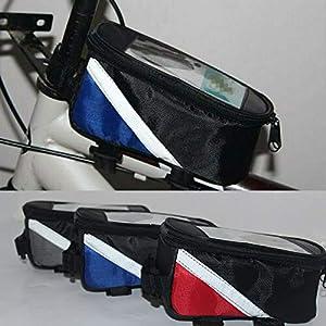 51WbH5kE9mL. SS300 Sunwan, borsa per telaio bici - borsa per il telaio anteriore della bicicletta, borsa impermeabile touch screen per…