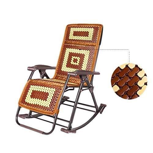 Fdd lettino prendisole, sedia a dondolo con poggiatesta e tasca laterale, struttura in ferro, tessuto sintetico traspirante, confortevole, max