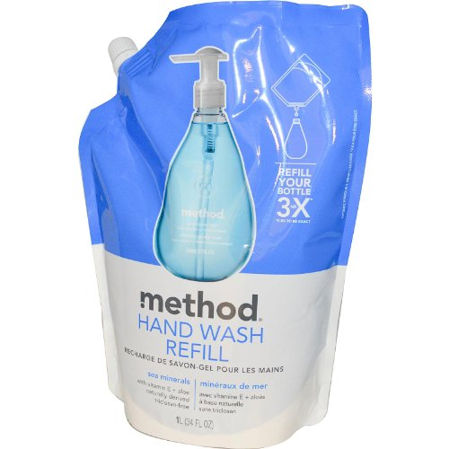 Method, Hand Wash Refill, Sea Minerals, 34 fl oz (1 l) - 1 REFILL BAG