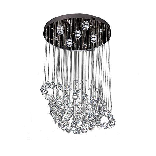 Fünf-licht-leuchter-glühlampen (WHL.HH Modern K9 Kristall Leuchter Runde LED Leuchter Eingebettet Deckenleuchte Einfach Zuhause Schlafzimmer Kristall Licht 5 GU10-Glühlampe Deckenleuchte)