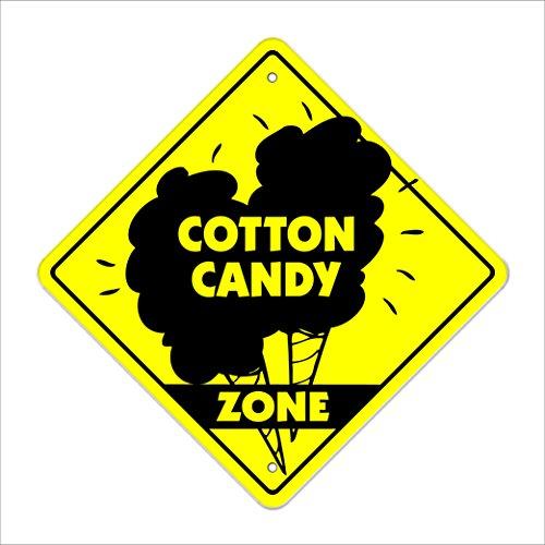 SignMission Cotton Candy Crossing Sign Zone Xing |-| 30,5cm Hoch Warenkorb zugeständnis Maschine Fair Carnival Candy Schönes Eat