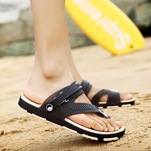 Xing Lin Beach Flip Flop Estate Tendenza Scarpe Uomo Scarpe Da Spiaggia Foro Pantofole Uomini Flip-Flops Uomini Sandali Antiscivolo Di Marea 1703 black