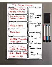Lifekrafts Magnetic White Board Sheet PAD Dry, Erase for Notes with 3 Pen