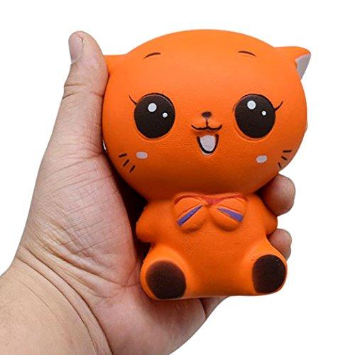 VENMO Queeze Jumbo Stress Stretch Katze Creme Squishy Duftende langsam steigende Spielzeug Reduzieren Stress Spielzeug Dekompression Spielzeug Super Langsam Steigende Kinder Spielzeug (Orange)