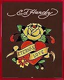 Ed Hardy Mini-Poster und Kunststoff-Rahmen - Eternal Love (50 x 40cm)