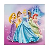 Keilrahmen Leinwand Bild Wandbild 35x35 Disney Princess Traumschloß Prinzessinnen