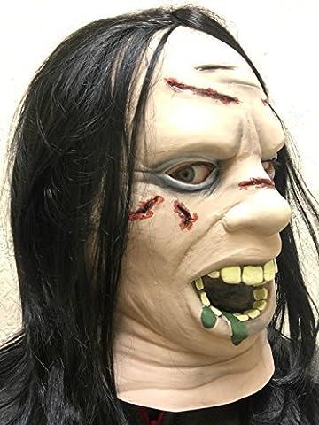 Regan Exorciste Film Masque Masque Latex Halloween Tête Cou Face Fantaisie Masques