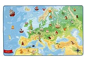 Böing Carpet Tapis représentant la carte de l'Europe 100 x 160 cm