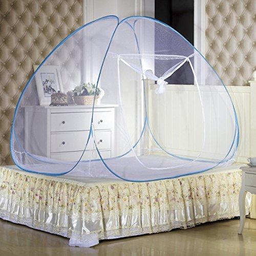Moustiquaire Simple-porte En Acier En Forme De U De Fil N'ont Pas Besoin D'installation Yourte Cryptée Zipper Bottom Nets,White-47.2*78.7*78.7in
