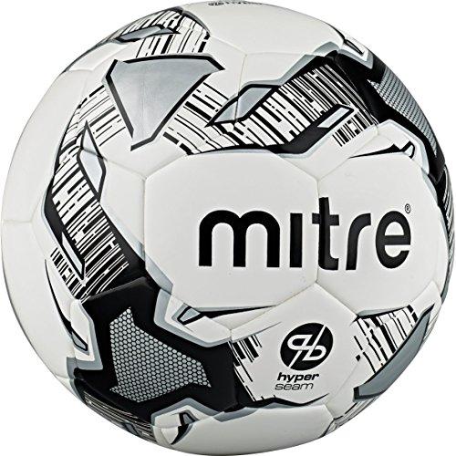 Mitre, pallone da allenamento a tecnologia hyperseam, unisex, calcio hyper seam, white/black/silver