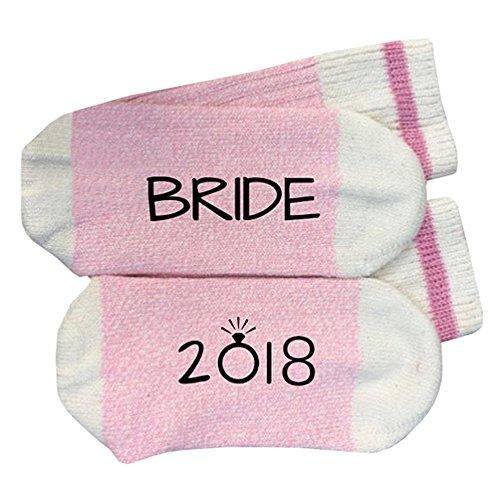 VENI MASEE BRIDE and GROOM 2018 gedruckt Partei Neuheit Socken Baumwolle Strümpfe for Damen and Männer 4 Farben