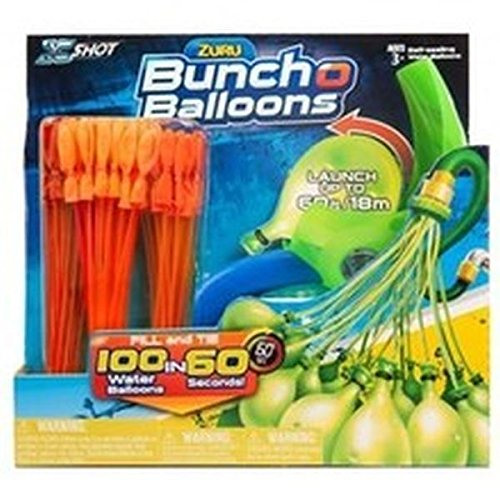 Zuru Original Bunch O Balloon Wasserbomben Set (inkl. 3 Bündel mit je 36 Wasser-Bomben (orange oder blau, zufällig) und Abschußgerät)