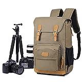 EverVanz Multifunktionaler Kamera Rucksack wasserdichtes Canvas Fotoausrüstung Reisetasche für Stativ, DSLR Canon Nikon Sony