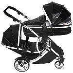 kids kargo Twin Pushchair Tandem Stroller Buggy New-Born Baby Carrycots Pram Travel System