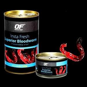 Ocean Free Insta Fresh Superior Bloodworm Aquarium Fish Food, 100 g