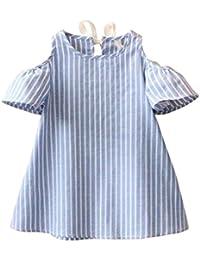 Vestido para Bebés, K-youth® Ropa Bebé Niñas Vestidos a rayas de manga corta de Princesa de bebé Niña Vestidos Fiesta Niñas 2018 Barata