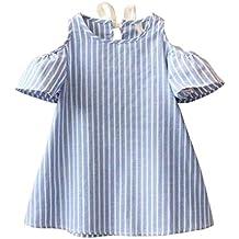 Vestido para Bebés, K-youth® Ropa Bebé Niñas Vestidos a rayas de manga