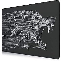 CSL - XXL Speed Gaming Mauspad Titanwolf 440 x 350mm - XXL Mousepad - Tischunterlage Large Size - verbessert Präzision und Geschwindigkeit