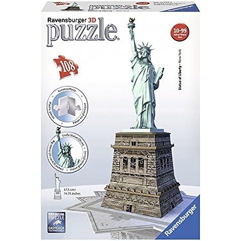Ravensburger - Puzzle 3D, diseño Estatua de la libertad (12584 5) 108 piezas