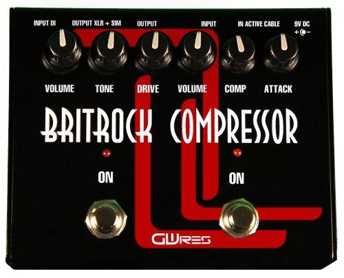GWIRES GWBC2   PEDAL DE EFECTO COMPRESION PARA GUITARRA  COLOR NEGRO