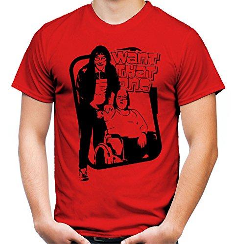 Little Britain Männer und Herren T-Shirt | Spruch USA Geschenk (L, Rot) (Kult Film Kostüm Ideen)