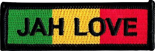 Jah Love Militär Uniform Stil Name Tag-Rasta Farben-Cut Out Embroidered Iron on oder Sew, auf Patch